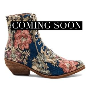 Jeffrey Campbell || Floral Ankle Boots